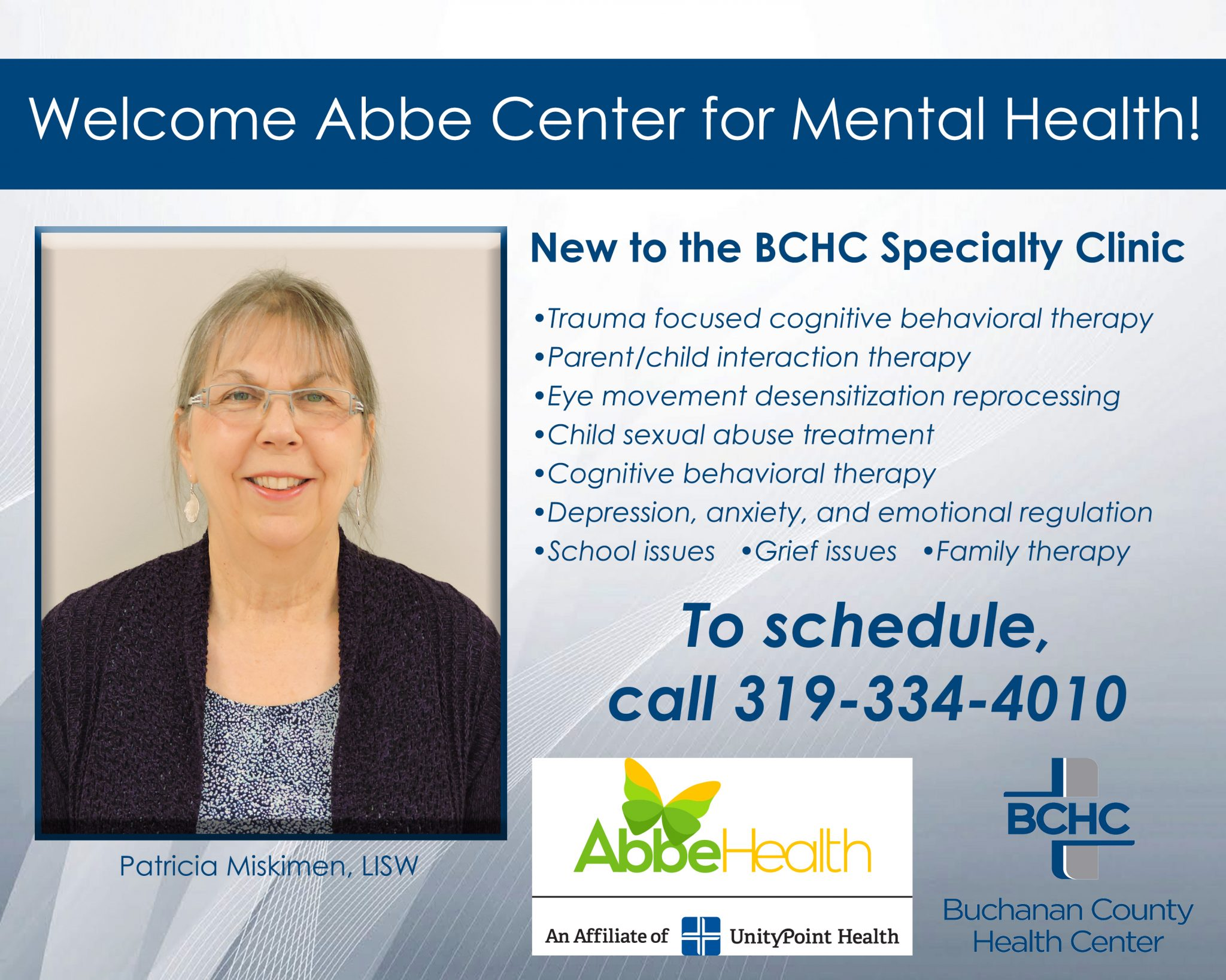 Bchc Specialty Clinic To Offer Mental Health Services Through Abbe